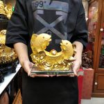 ปลาคู่ก้อนทอง